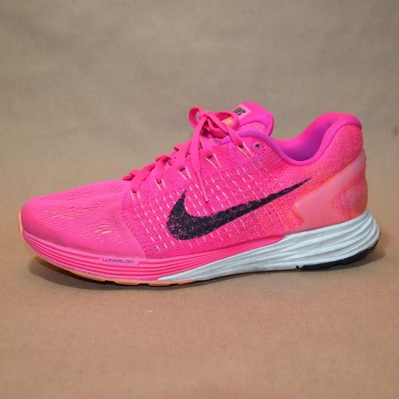 c42fa0abdf9 Hot Pink Nike Lunaglide 7 Women s Runners Sz. 7.5.  M 5bb6eb8daa87705634b29ed1. Other Shoes ...